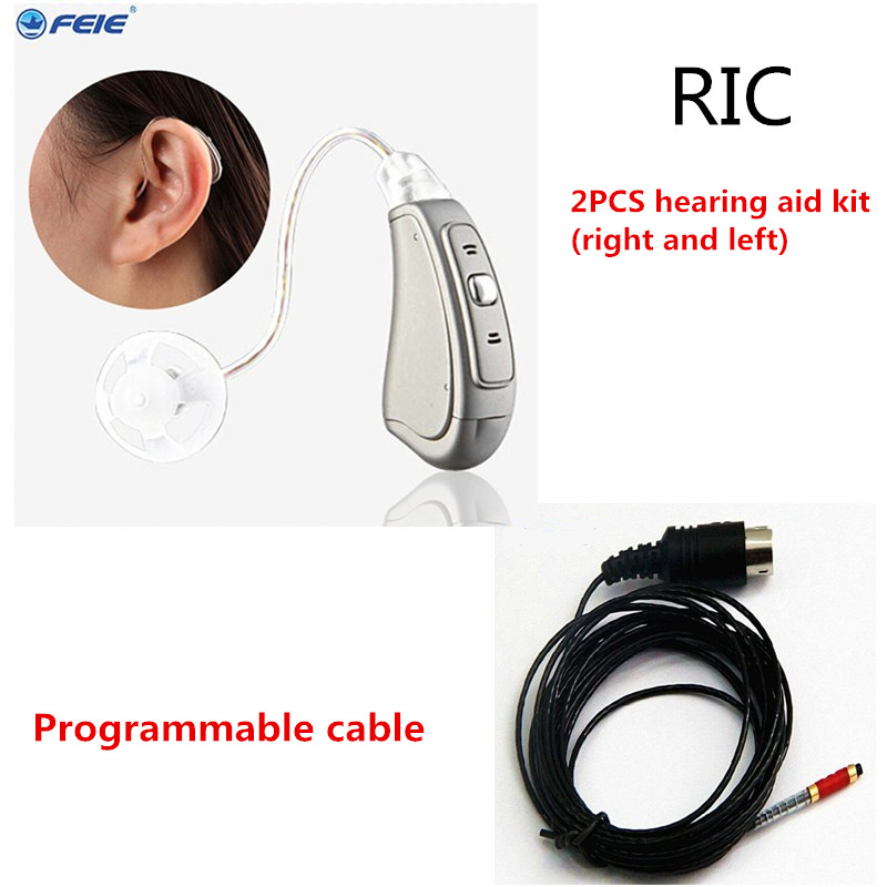 Hearing Aid Tinnitus Masker Sound Amplifiers Digital RIC Listening Machine Medico 8 Channels Betteries Best Tone