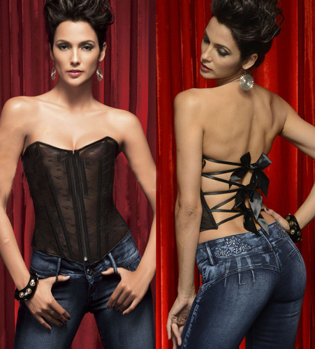 Sexy Lingerie Bodice Grunge Bustier-Corset Body-Shaper Chest-Binder Mesh Waist Black