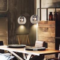 Jaxlong Glass Pendant Light Loft Industrial Wind Kitchen Dining Bar Retro Lamp Living Room Study Bedroom Lighting Fixture Avize