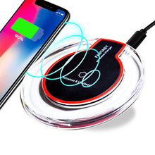 5W Wireless Charger Ultra Thin LED Qi Charging Pad For iPhone XS X 8 Plus Samsung Huawei Mate 20 Pro Charge