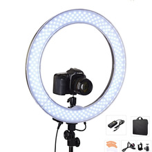 Camera Photo Video 18″ RL-18 240 LED Ring Light 5500K Outer 55W Dimmable Photography Ring Video Light lamp for Camera Fill Light