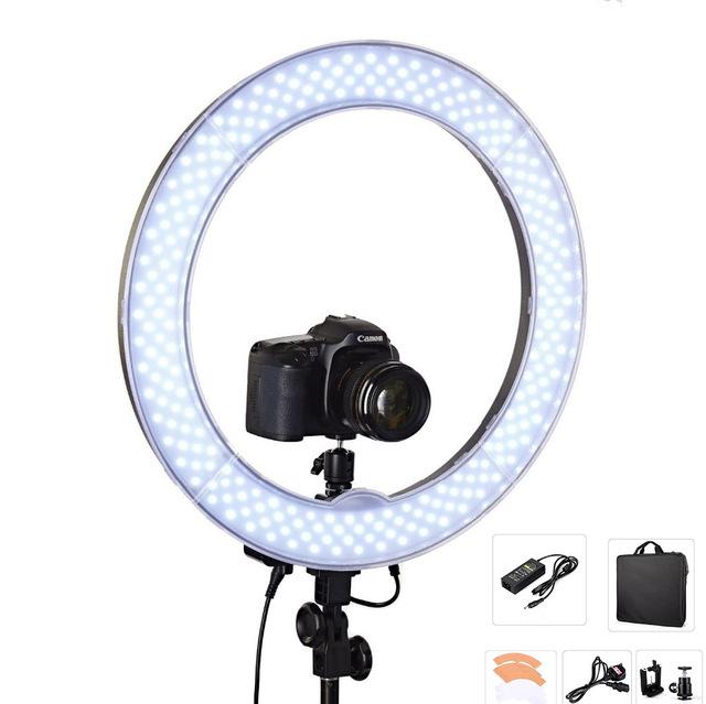 """La cámara de Fotos Video 18 """"RL-18 240 Anillo de Luz LED 5500 K Photography Anillo Exterior 55 W Regulable lámpara Luz de Vídeo para Cámara de Luz de Relleno"""