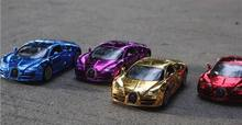 NEW plating 1:32 model simulation Baby toy Alloy Sports Car Sound Light Pull Back Toy Car for Bugatti super car toy gift(China)