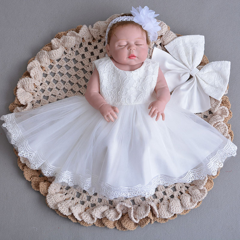 Lace Vintage Baby Girl Dress For Baptism Girls 1st Year