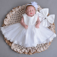 Lace Vintage Baby Girl Dress for Baptism Girls 1st year Birthday Party Wedding Dresses Christening Baby Infant Clothing bebes