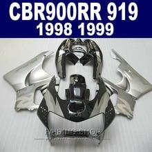 Cheap Fairing kit For Honda CBR900RR 919 1999 1998 (Silver black Fairings ) cbr 900rr 98 99 CN26