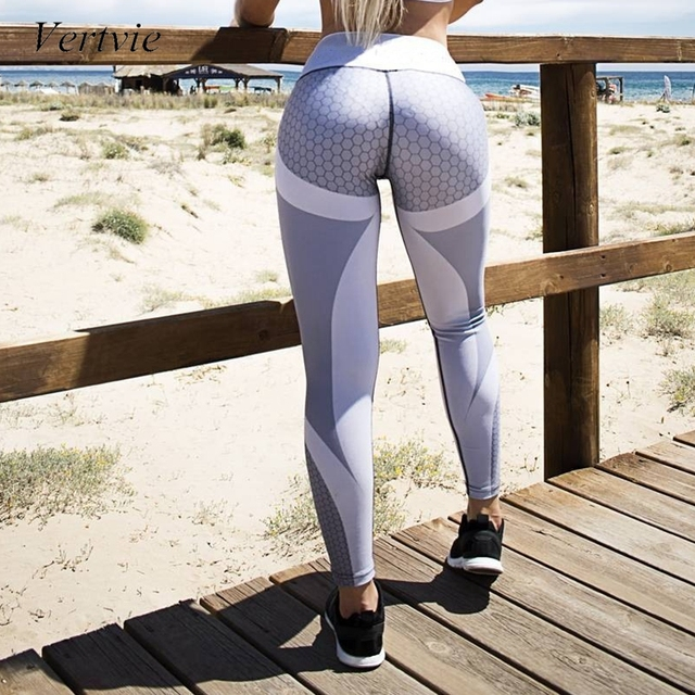 52e0dd0541ad1 vertvie 2019 Sexy Shaping Hip Up Yoga Pants Women Fitness Tights Workout Gym  Running Pants Slim High Elastic Sports Leggings