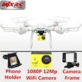 Profissional MJX X101 FPV Quadcopter Drone con cámara de 12MP 1080 P Real tiempo WiFi Cámara de Control Remoto Helicóptero Vs X8HG X8G X8W X8C