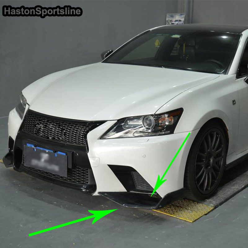 Pour Lexus GS F Sport GS350 modifié en Fiber de carbone avant tablier séparateur voiture style 2012 2013 2014 2015