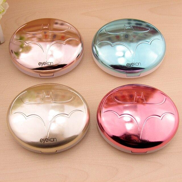 Лидер продаж многоцветный Портативный Симпатичные Бат держатель Контактные линзы с зеркалом контактные Оптические стёкла коробка для подарка