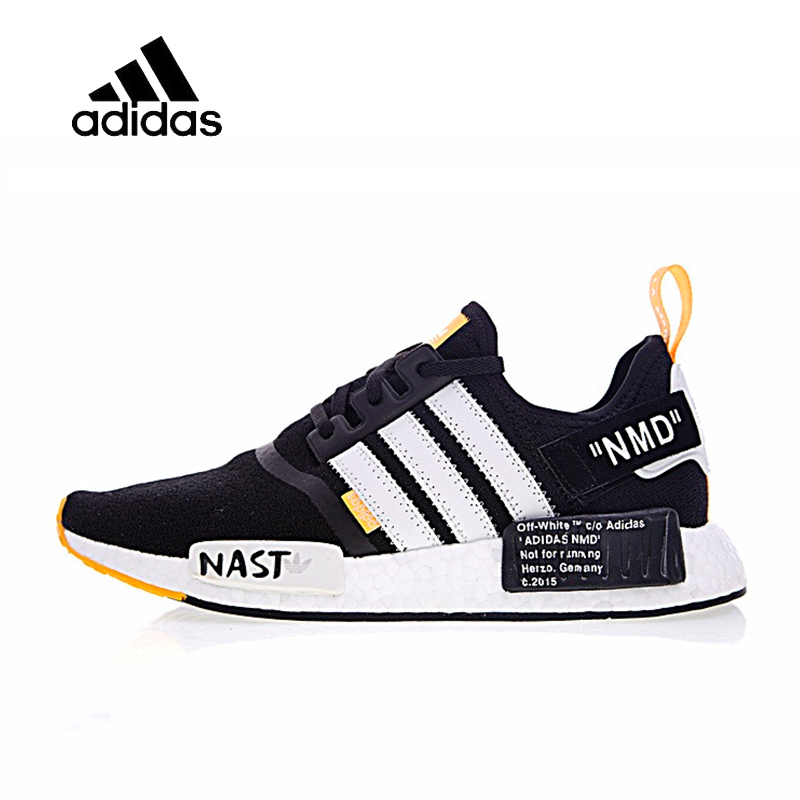 12bf60d2f72874 Original New Arrival Official Adidas R1 Boost x Off-White Men s Breathable  Running Shoes Sport