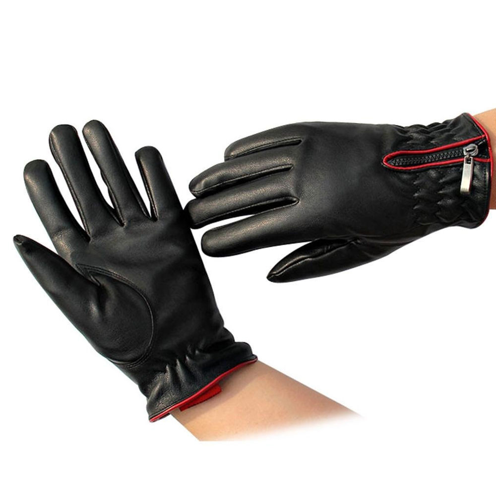 Leather driving gloves bulk - Womens Touch Screen Winter Warm Artificial Leather Driving Gloves China Mainland
