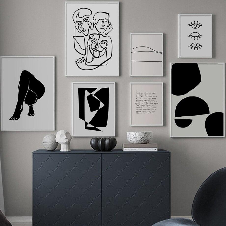 Abstrakte Körper Kunst Drucke Minimalistischen Linie Nordic Poster Und Drucke Wand Kunst Leinwand Malerei Wand Bilder Für Wohnzimmer Salon Mit Den Modernsten GeräTen Und Techniken