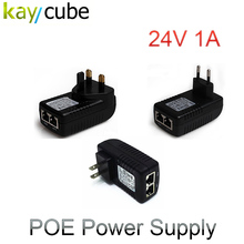 DC 24V 1A PoE Injector Power Supply Over Ethernet Adapter With LED Power Indicator For Support POE Device US EU AU UK