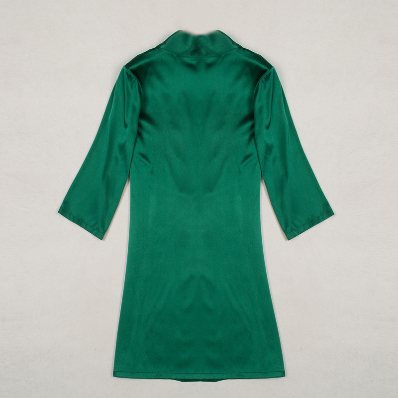 Nachtjapon Vrouwen Pyjama Thuis Slaap Slijtage Lingerie Zijde Zeven Dimensionale Mouw Nachtjapon Zijde Badjas Huis wear OCSP 003 - 2