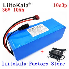 LiitoKala 36V 10Ah 500W High power&capacity 42V 18650 lithium battery pack ebike electric car bicycle motor scooter with BMS liitokala 36v 8ah battery pack high capacity lithium batter pack include 42v 2a chager