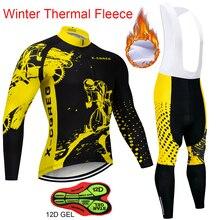 цена на Men Winter Thermal Cycling Clothing 2019 Hot X-CQREG Long Sleeve Cycling Jersey Set Ropa Ciclismo MTB Bike Maillot Bicycle Wear