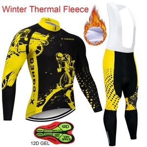 Image 1 - Men Winter Thermal Cycling Clothing 2020 Hot X CQREG Long Sleeve Cycling Jersey Set Ropa Ciclismo MTB Bike Maillot Bicycle Wear