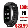 L30t Bluetooth Умный Браслет Динамический Монитор Сердечного ритма полноцветный TFT-LCD Экран Smartband для Apple IOS Смартфон