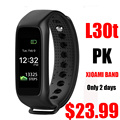 L30t inteligente bluetooth banda dinámica smartband heart rate monitor color tft-lcd de pantalla completa para apple ios smartphone