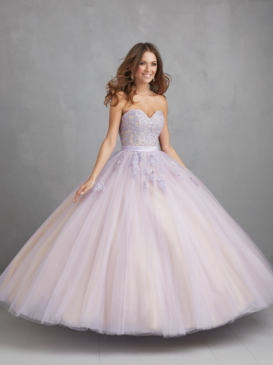 Sweetheart Tulle Beaded Appliques Ball Gown White Quinceanera ...