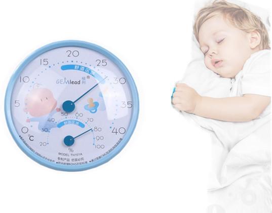 2016 Venta Chupeta Termometro Bebé Termómetro Electrónico Higrómetro de Interior Del Hogar Termómetro Del Sitio Del Bebé Niños Dedicado Reloj