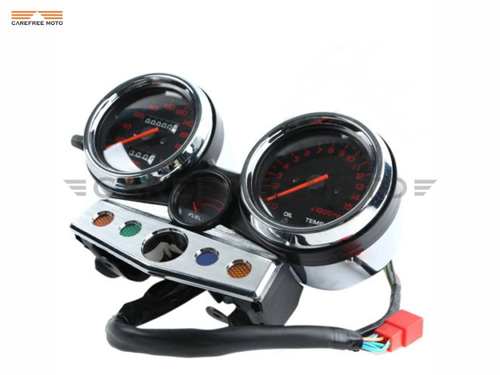 1 Set Motorcycle Tachometer Speedometer Meter Gauge Moto Tacho Instrument case for HONDA CB400 CB 400