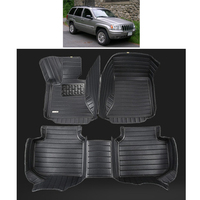 free shipping fiber leather car floor mat for jeep grand cherokee wj 1999 2000 2001 2002 2003 2004 2005