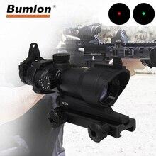Оптический прицел для винтовки ACOG 1X32, 5 уровневый прицел с красной и зеленой точкой, охотничий прицел с рельсой 20 мм для страйкбольного ружья