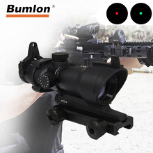 ACOG 1X32 Red Green Dot Sight Optical Rifle Scopes 5 level control Red Dot Scope Hunting Scopes With 20mm Rail for Airsoft Gun imitation swarovskl hunting rifle scopes 4 20x56 sfir rifle scopes mil dot glass f40 1 crosshairs made in china