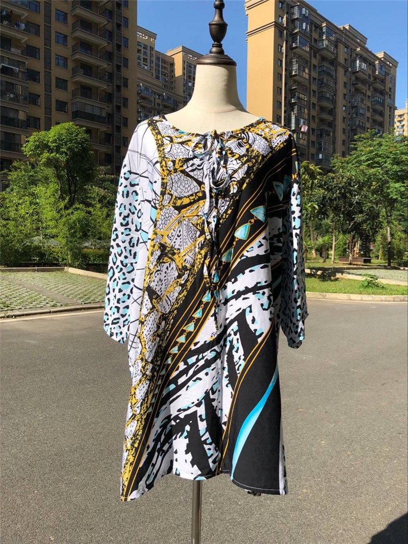 85c5a9781 Indie Folk Mixed Multicolored Pareo Beach Tunic Swimwear Cover Up Beach  Dress Plus Size Women Pool Party Mini Dress Sarong N522-in Cover-Ups from  Sports ...