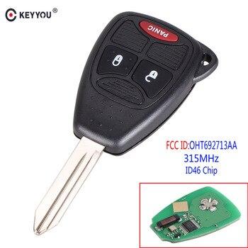 Chiave Telecomando per Jeep Dodge Chrysler Remote Key Fob 315Mhz ID46 Chip OHT692713AA 2+1 tasti