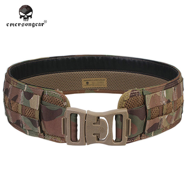 Emersongear Men Airsoft Combat Paintball Army Waistband Emerson MOLLE Load Bearing Combat Camo Belt EM9241 Black Coyote Multicam airsoft adults cs field game skeleton warrior skull paintball mask