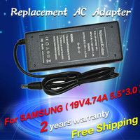 19V 4 74A 5 5 3 0mm AC Charger Adapter For Notebook Samsung R428 R410 R65