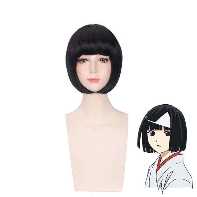 Anime Noragami Nora Women Short Black Wig Cosplay Costume Heat Resistant  Synthetic Hair Halloween Party Role Play Wigs 000f0cf2751e