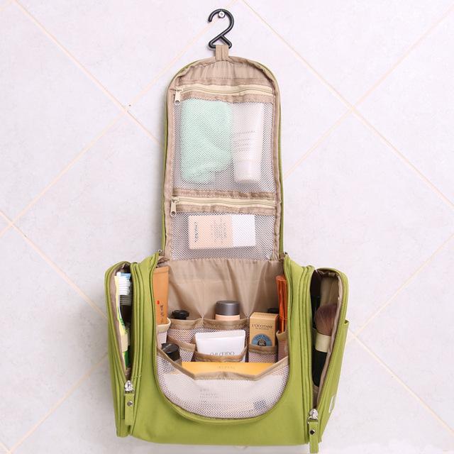 Las mujeres de Maquillaje Organizador caja Colgante del Recorrido del artículo de Tocador Bolsa de cosméticos A Prueba de agua Bolsas de Los Hombres de Tocador Bolsa de kit de Baño para Cosas Necesarias