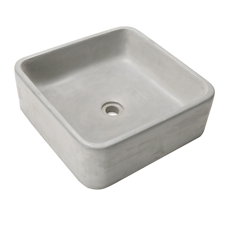 Lavello quadrato muffa bagno vaso di stampi di cemento lavello craft stampi Lavabo stampo in silicone con cornice in legno