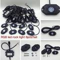 Free Shipping 9W RGB Led Rock Lights Waterproof Off Road LED Rock Light Kit - 8 Pods LED Rock Lights For Offroad