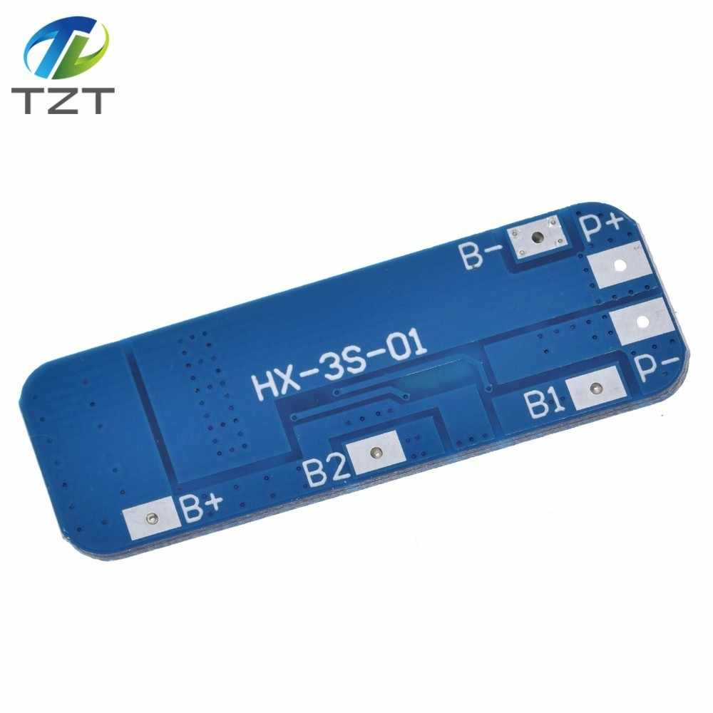 3S 10A 12V Lithium Battery Charger Protection Board Module for 3pcs 18650 Li-ion Battery Cell Charging BMS 10.8V 11.1V 12.6V