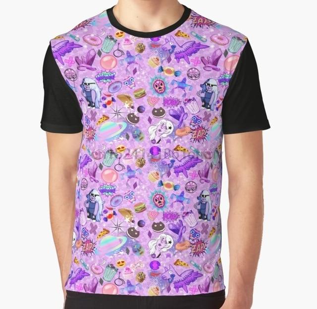 3b3c0a27d All Over Print 3D Women T Shirt Men Funny tshirt Amethyst Aesthetic  Wallpaper Graphic T-