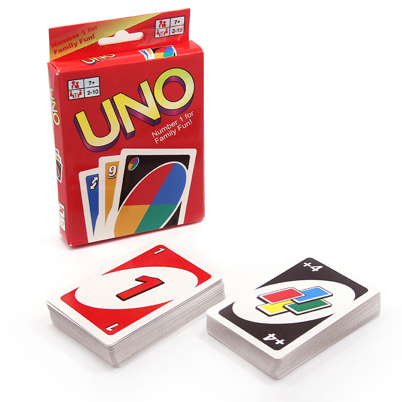 Topsale Puzzle Games 172.8g 108 Cards Family Funny Entertainment Board Game UNO Fun Poker Playing Cards Gift Box