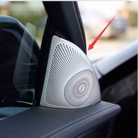 Aluminum Alloy High Tone Loudspeaker Cover Car Accessories For Mercedes Benz E Class W213 E200 E300