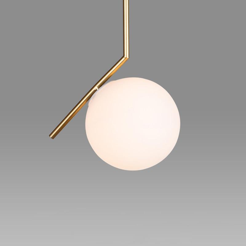 Nordic Contemporary Replica IC Pendant Lamp Glass Ball Shade Aluminum Suspension Lighting Fixture Indoor Decoration Lights PL935 25cm glass shade ball pendant light lighting fixture drawing lights