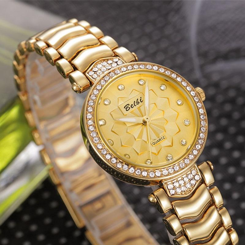 Alta Calidad de Cuarzo Top Mujeres de Lujo BELBI Marca Relojes Moda - Relojes para mujeres