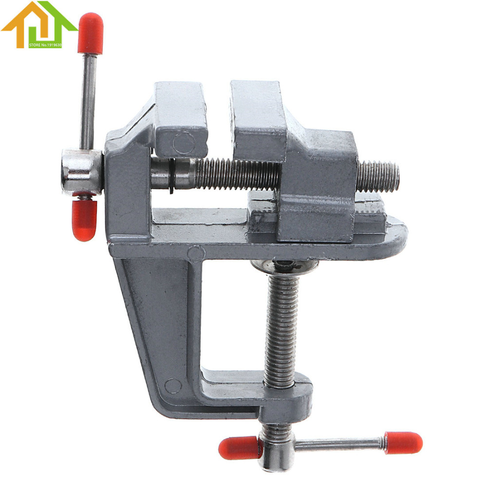 Aluminum Alloy Mini DIY Jaw Bench Clamp Drill Press Vice Micro Clip for Water Pump /Clamping Table