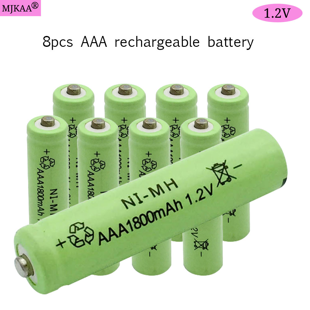 8pcs AAA NI-MH 1.2V Rechargeable Battery AAA 1800mAh Battery 3A Rechargeable Batteries NI-MH Battery for Mouse Camera Toys new for 2016 2 pcs aaa 3a 1800mah 1 2v ni mh rechargeable battery