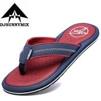 2016 Summer Outdoor Beach Sandals Shoes Collision Color Platform Wedge Flip Flops Men Anti Slip Flip