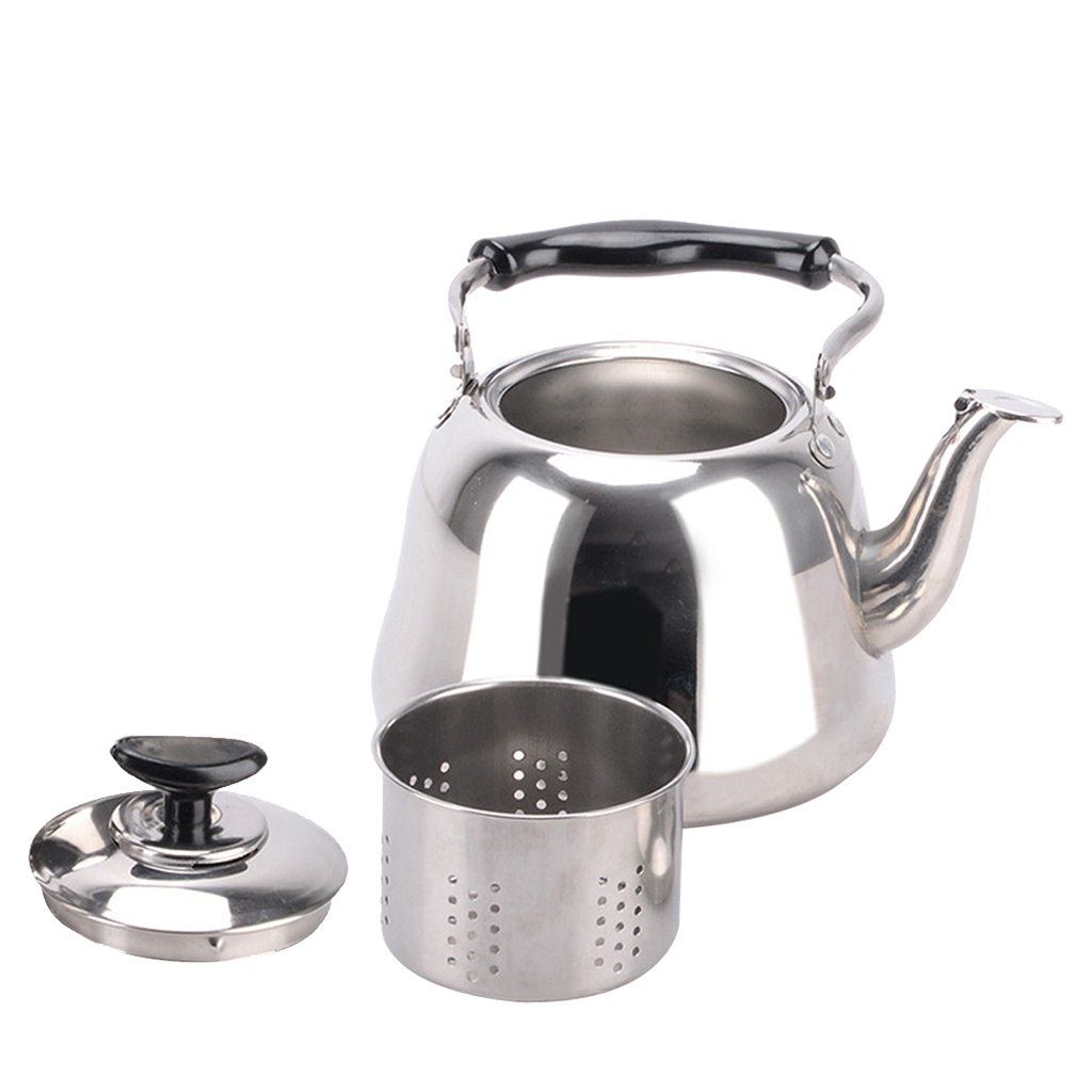 Stainless Steel Whistling Kettle Teakettle Fast Boil Teapot with Infuser 1L 2L 3L