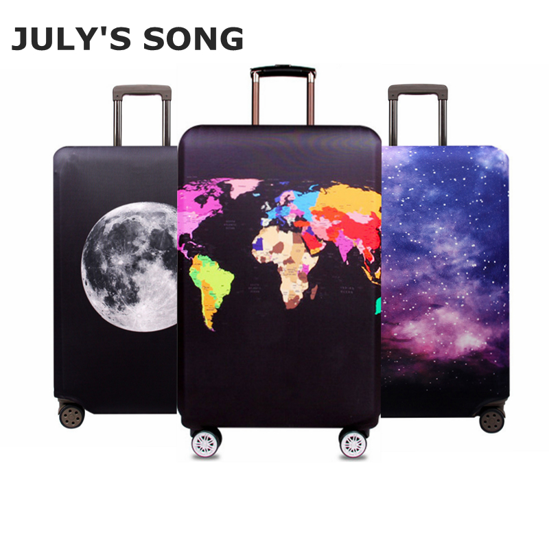 JULY'S SONG Travel Suitcase Elastic Dust Cover Trolley Case Luggage Protector case for 18 ~ 32 inch Suitcase Protective Cover travel accessories fashion striped suitcase protection cover 18 32 inch trolley dust cover suitcase protective cover