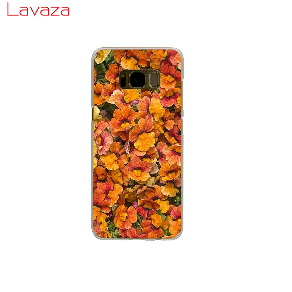 Lavaza Cute daisy Hard Phone Cover for Samsung Galaxy S8 S9 S10 Plus A50 A70 A6 A8 A9 2018 Case in Half wrapped Cases from Cellphones Telecommunications